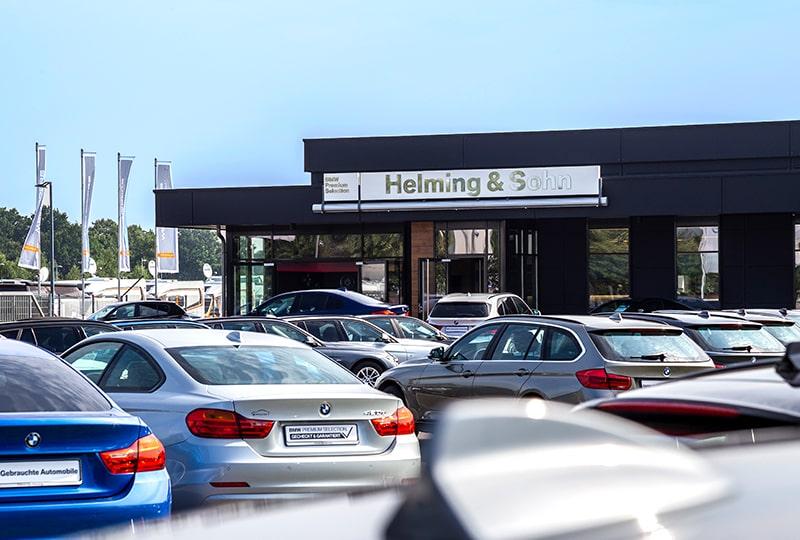 Helming & Sohn BMW Gebrauchtwagenzentrum in Wietmarschen Lohne Gebäude weit